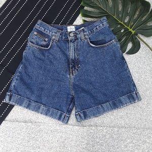 {Calvin Klein} Vintage High Waisted Denim Shorts